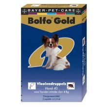 Bolfo Gold hond 40 minder dan 4kg 2pipetten
