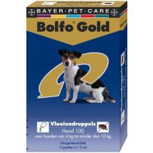 Bolfo Gold hond 100 vanaf 4kg tot 10kg 2pipetten