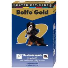 Bolfo Gold hond 400 van 25kg tot 40kg 2pipetten