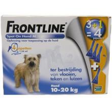 Frontline Spot-On Hond van 10 tot 20kg 4 pipetten