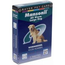 Bayer Mansonil All Worm Hond Groot 2tabletten