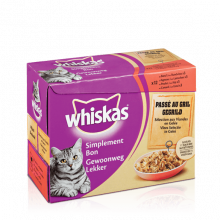 Whiskas 12pack GL gegrild vlees