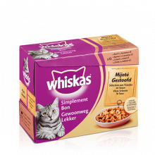 Whiskas 12pack GL gestoofd vlees