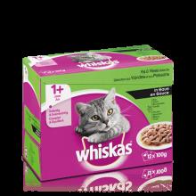 Whiskas 12pack Adult Vis/Vlees in Saus